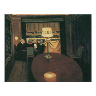 Felix Vallotton-Poker players Poster