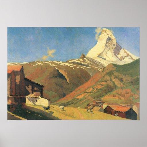 Felix Vallotton-View of Zermatt Poster
