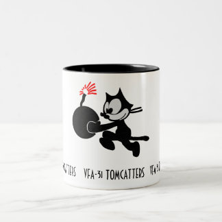 FELIX, VFA-31 TOMCATTERS, F-18 Two-Tone COFFEE MUG