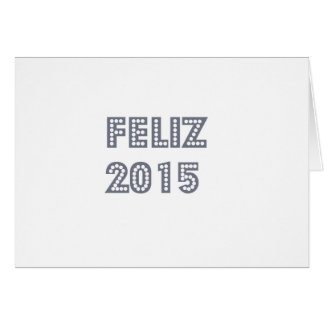 Feliz ano novo greeting card