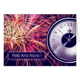 Feliz Ano Novo. Portuguese New Year's Cards