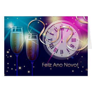 Feliz Ano Novo. Portuguese New Year's Cards
