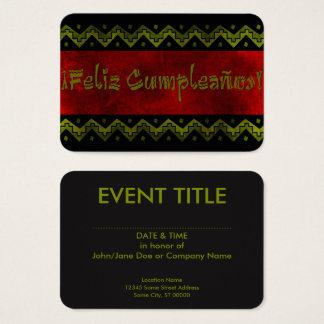 feliz cumpleanos arriba business card