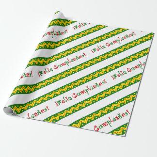feliz cumpleanos arriba wrapping paper