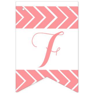 Feliz Cumpleaños -coral color bunting flag