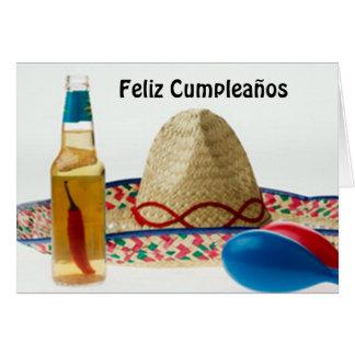 FELIZ CUMPLEANOS-HAPPY BIRTHDAY SPANISH GREETING CARD