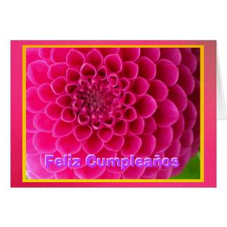 Feliz Cumpleaños - La Dalia Rosa Card