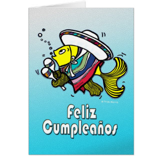 FELIZ CUMPLEAÑOS mexican fish spanish birthday Greeting Card