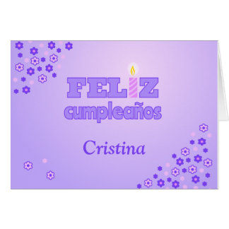 Feliz cumpleanos personalized spanish birthday greeting card