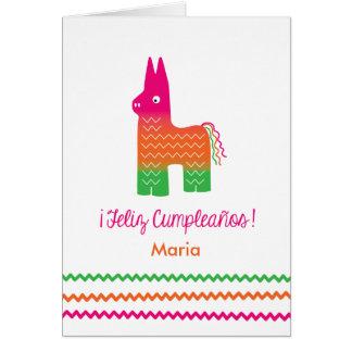 Feliz Cumpleaños piñata Card
