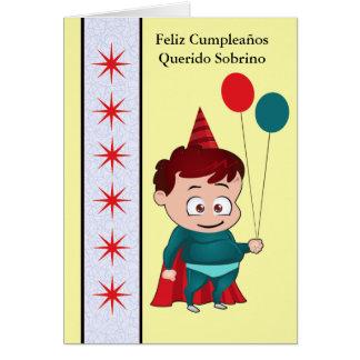 Feliz Cumpleaños Querido Sobrino Card