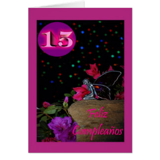 Feliz Cumpleaños Spanish Birthday fairy faerie Greeting Card