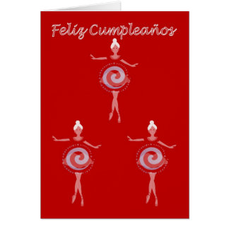 Feliz Cumpleaños Spanish Birthday with ballerina Card