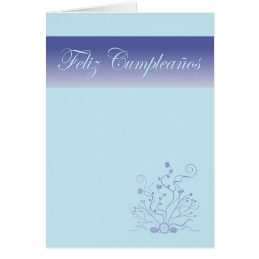 Feliz Cumpleaños Spanish Birthday with flowers Cards