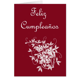 Feliz Cumpleaños Spanish Birthday with flowers Greeting Card