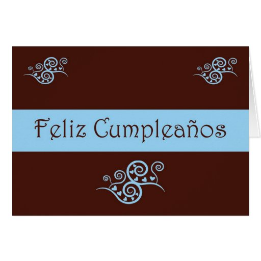 Feliz Cumpleaños Spanish Birthday with love heart Greeting Cards