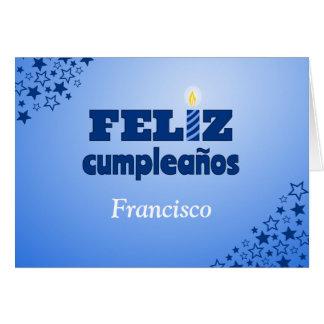 Feliz cumpleanos spanish personalized birthday greeting card