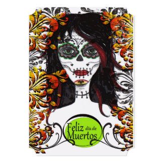 Feliz dia de Los Muertos DOD Party Invitations