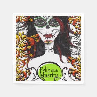 Feliz dia de Los Muertos DOD Party Paper Napkins