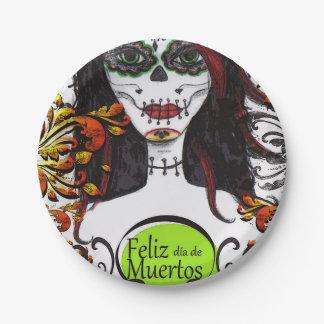 Feliz dia de Los Muertos DOD Party Paper Plates