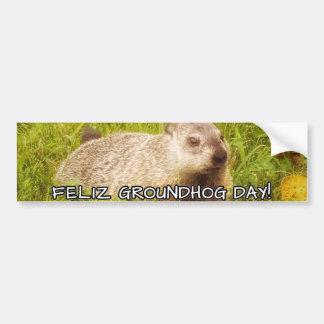 Feliz Groundhog Day! bumper sticker