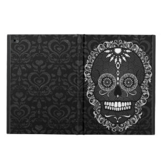 Feliz Muertos - Chic Sugar Skull on Damask Powis iPad Air 2 Case