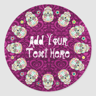 Feliz Muertos - Custom Sugar Skull Stickers