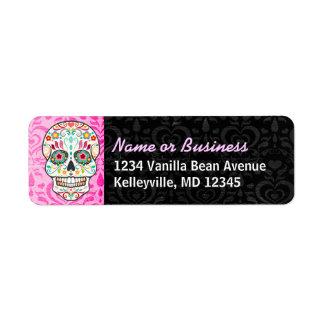 Feliz Muertos - étiquettes de adresse faits sur Étiquettes D'adresse Retour