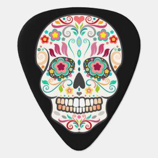 Feliz Muertos - Festive Sugar Skull Guitar Pick