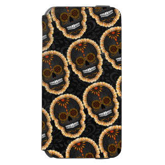 Feliz Muertos - Festive Sugar Skull Pattern Incipio Watson™ iPhone 6 Wallet Case