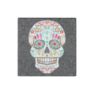 Feliz Muertos - Festive Sugar Skull Stone Magnet Stone Magnets