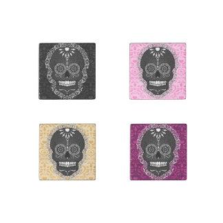 Feliz Muertos - Festive Sugar Skull Stone Magnets