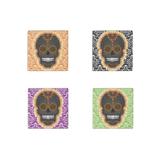 Feliz Muertos - Festive Sugar Skull Stone Magnets Stone Magnet