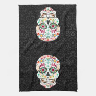 Feliz Muertos - Festive Sugar Skulls Kitchen Towel