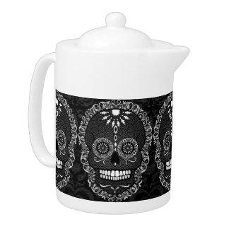 Feliz Muertos - Festive Sugar Skulls Teapot