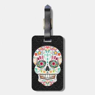 Feliz Muertos - Happy Sugar Skull Custom Tag