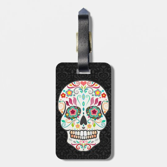 Feliz Muertos - Happy Sugar Skull Custom Tag