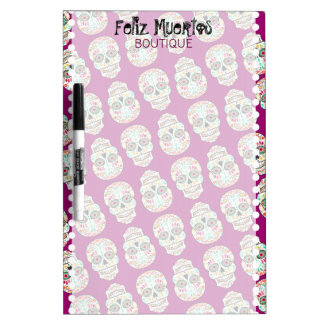 Feliz Muertos - Personalized Sugar Skulls Board Dry Erase Whiteboard