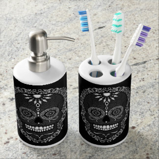 Feliz Muertos - Sugar Skull Pattern Bath Set