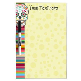 Feliz Muertos - Sugar Skull & Stripes Custom Board