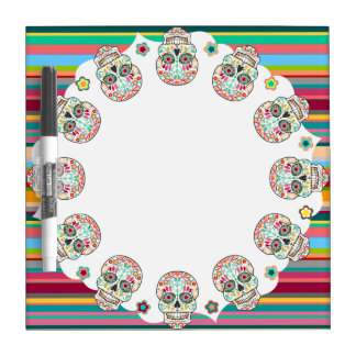 Feliz Muertos - Sugar Skulls Dry Erase Board