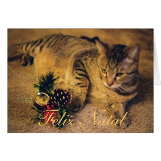 """Feliz Nalal e Próspero Ano Novo!"" Greeting Card"