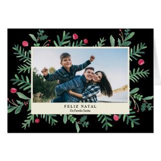 Feliz Natal Aquarela   Cartão de Natal Card