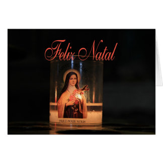 Feliz Natal  Burning candles christmas Card