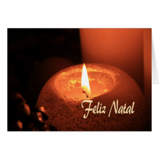 Feliz Natal  Burning candles christmas Greeting Card