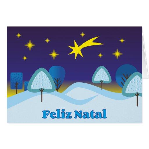 Feliz Natal Greeting Cards