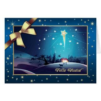 Feliz natal. Cartes de Noël portugaises