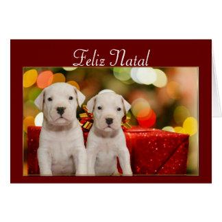 Feliz Natal Christmas Argentine Dogo card