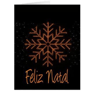 Feliz Natal   Crystal Lights Big Greeting Card