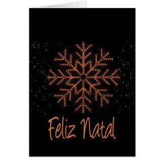 Feliz Natal   Crystal Lights Greeting Card